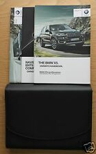 GENUINE BMW X5 F15 HANDBOOK NAVIGATION OWNERS MANUAL 2013-2015 PACK #1089