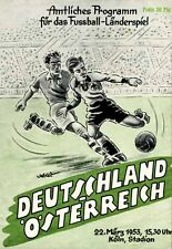 Fußball Football Programm 1953 Deutschland Germany - Österreich DFB Reprint