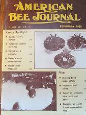 1988 American Bee Journal - Varroa as a Parasite; Indian Mite Research