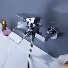 Waterfall Wall Mounted Bathtub Basin With Hand Shower Mixer Tap Faucet 0234nxh