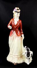 Beautiful Royal Doulton Fine Bone China Figure ~ Sarah HN3384 Lady & Spaniel