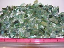 Tourmaline crystal blue green all natural 5-20mm long 30 carat lots 15-30 pieces
