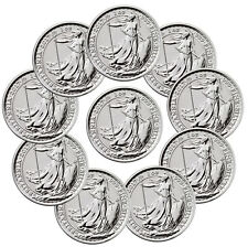 Lot of 10 2017 G Britain 1 oz Silver Britannia 20th Anniv Trident Privy SKU46319