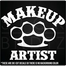 MAKEUP ARTIST UFC HARLEY FIGHT FUNNY DECAL STICKER MACBOOK CAR WINDOW MOTORCYCLE