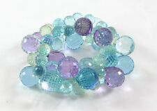 Fabulous New Purple Blue Green Colored Bubble Statement Bracelet #B1365