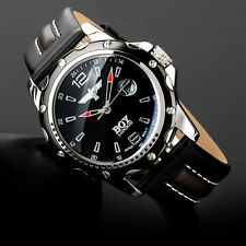 Boy London Men Unisex Fashion All Black Leather Analog Quartz Wrist Watch Gift