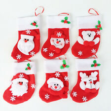Top Hot 1PCS Elegant Christmas Stockings-Santa Claus & Snowman-Holiday Gift Bags