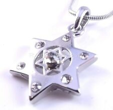 Double Star Of David Magen Judaica Necklace And Pendant Kabbalah Silver Israel