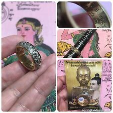 Beautiful Ring Ei Khai Movable Thai Amulet Solid Luck Rich Charm Protect Size 9