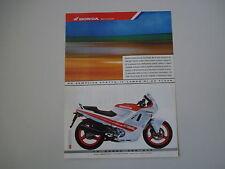 advertising Pubblicità 1988 MOTO HONDA CBR 600 F