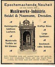 Musica la slot machine-Novità SEIDEL & NAUMANN DRESDA storica la pubblicità di 1900