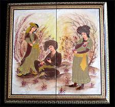 Persian Backgammon Set Moaraq Painting Omar Khayyam Imagery 2055