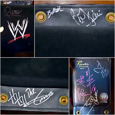 wwe wrestling ring worn used turnbuckle signed by 11 superstars