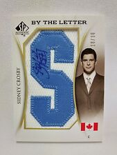Sidney Crosby 18/30 AUTO PATCH 2010-11 SP Authentic By The Letter Last Name G7