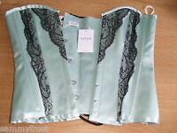 MYLA MEDIUM PEONY ANGELICA CORSET PALE GREEN BNWT + AGENT PROVOCATEUR PROMO CARD