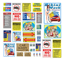 1:87 HO scale model car wash signs