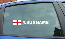 x1 Rally Tag Name Surname Window Stickers Decals England St George Flag ref:13