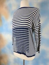 NEW AMERICAN LIVING Patchwork striped 100% cotton boxy sweater SZ: M