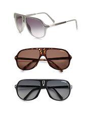 Carrera New Safari 62MM Plastic Aviator Sunglasses Mens Women Brown