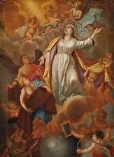 Krönung Marias - Barockgemälde - Öl/LW - 18. Jahrhundert  ~ 1720  (# 2089)