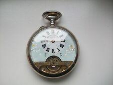 Antiguedad Hebdomas reloj de bolsillo con 8 días obra plata, troquel ggg para 925 1880