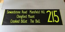"London Bus Blind 14 42""- 215 Sewardstone Mansfield Hill The Bell Chingford Mount"