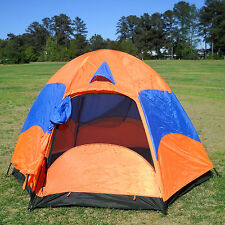 Large Family Camping Hiking Double Layers Tent w/ Rainfly, Mesh Screen, 3 Season