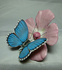 Butterflies of the World Franklin Mint Vintage Adonis Blue Butterfly '85 Retired