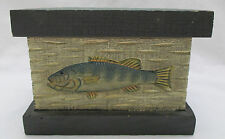 Wooden Fish Recipe What Not Box Wood Trinket Cabin Decorative Green