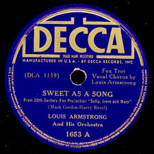 LOUIS ARMSTRONG & HIS Orch.  Sweet as a song     Schellackplatte  78rpm X2514