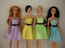 Set of 4 Vintage 1950's Prom Dresses in Beautiful Pastel Colors For Barbie