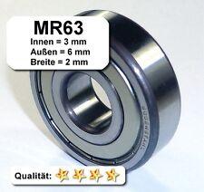2 Stk. Radiales Rillen-Kugellager MR63 (3x6x2), MR63