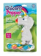 Hog Wild White Unicorn Popper Foam Ball Launcher Toy