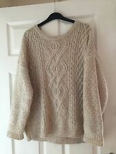 Atmosphere Chunky Thick Cream Knit Jumper Size 14-16