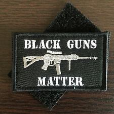 BLACK GUNS MATTER USA Military Army Tactical Morale Badge Combat SWAT OPS Patch