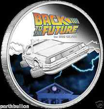 2015 $1 Back to the Future - Delorean - 1 oz Silver proof coin - Perth Mint