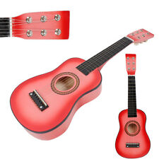 "New 23"" Beginners Practice Acoustic Guitar with Pick 6 String Children Pink"