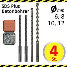 SDS Plus Bohrer Set für Stein Beton Ziegel Granit D 6, 8, 10, 12 mm L 160-260 mm