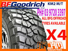 "SET OF 4 - 33"" X 12.5"" X 15"" BF GOODRICH (BFG) KM2 M/T MUD TERRAIN TYRES"