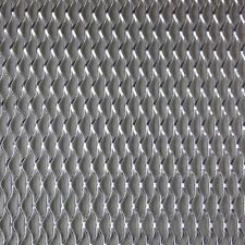 "40"" x 13"" Silver Universal Aluminum Car Grill Grille Diamond Mesh Net Section"