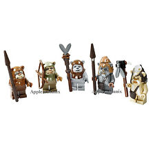 LEGO Star Wars 10236 Village COMPLETE EWOK SET Minifigures Figures Teebo Wicket