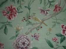 "SANDERSON CURTAIN FABRIC ""Porcelain Garden"" 0.90 METRE ROSE & FENNEL DCAVP0201"