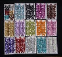 Decorative Glitter Jewelled Clip-on Butterfly - 8cm x12 -  Butterflies Wedding