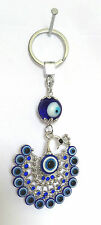 Feng Shui Evil Eye with Peacock car hanging door hanging key chain