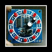 Electronic Casino Lucky Number Rotating Wheel Fun Game Module NE555 CD4017