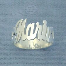 Sterling 925 Silver Name Ring Personalized Jewelry Handmade for individual_s