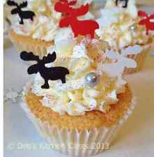 Christmas Reindeer Cake Decorations - Edible Wafer - Stand Up Wafer Toppers Mix