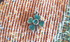 LUCKY IRISH 1 SHAMROCK 4 LEAF CLOVER PEWTER CHARM ALL NEW.