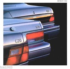1992 INFINITI Brochure / Catalog: G20,M30,Q45, G-20, M-30, Q-45, '92