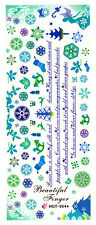 XXL One Stroke Sticker X-Mas Christmas Nicholas Angels Nailart UV Gel HOT004a